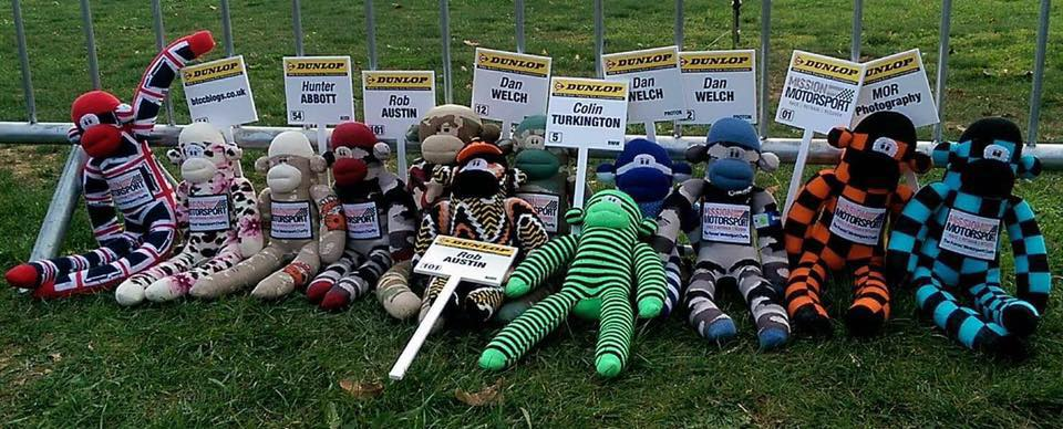 MotorSport Sock Monkeys